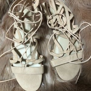 Lace up forever 21 sandals